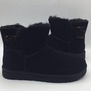 UGG Mini Bailey Fashion Buckle Black Boots